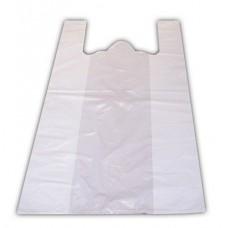 HDPE Maisiņi ar rokturiem, balti, 25x12x47 cm., 100 gab., 1 pac.