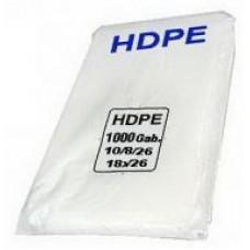 Maisiņi caurspīdīgi, HDPE, 14x4x26 cm., 1000 gab.