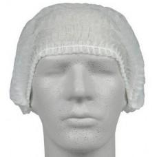 Vienreizejas lietošanas cepure, gofrēta, balta, 200 gab., 1 pac.
