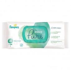 PAMPERS Aqua Pure  mitrās salvetes, 48 gab.