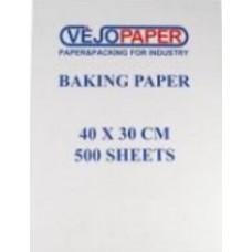Cepampapīrs, balts ar silikona pārklājumu, 41 gsm, 40x30 cm., 500 loksnes