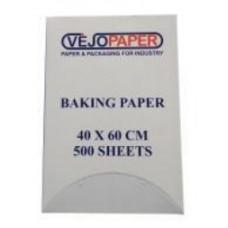 Cepampapīrs, balts ar silikona pārklājumu, 41 gsm, 40x60 cm., 500 loksnes