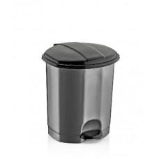 Atkritumu kaste 7L ar pedali , pelēks-melns