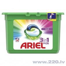 Ariel Color 3in1 Veļas mazgāšanas kapsulas14gb