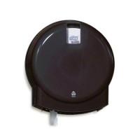 Tork T2 Mini Jumbo tualetes papīra turētājs, melns, 25.4x24.9x11.8 cm