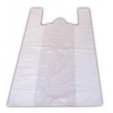 HDPE Maisiņi ar rokturiem, balti, 30x18x55 cm., 100 gab., 1 pac.