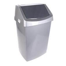 CURVER Atkritumu tvertne ar šūpojošos vāku, pelēka, 50 l., 1 gab.