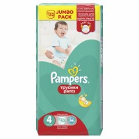 PAMPERS Pants No.4 Jumbo biksites 52gab.