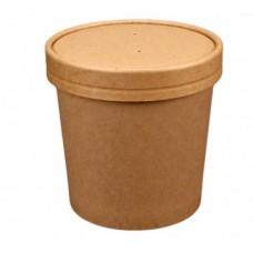 Zupas trauki kraft, (ar vāku), 470 ml., 50 gab.