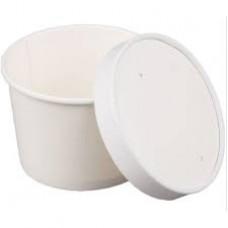 Papīra bļoda, apaļa, ar vāku 770ml, 25gb (kastē 20pac)