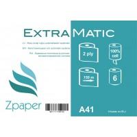 Zpaper EXTRA MATIC Roku dvieļi ruļļos, automātiskajiem dispenseriem, 2 slāņi, 150 m., 6 gab.
