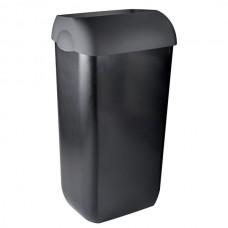 Mar Plast atkritumu tvertne (sienas/ grīdas), ar vāku, melns, 23 l.