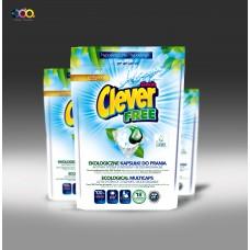 CLEVER FREE ECO šķidras veļas kapsulas, 20gb