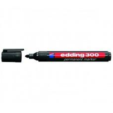 Permanents Marķeris Edding E300, melns