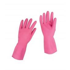 Gumijas cimdi saimniecības darbiem, roza M izmērs