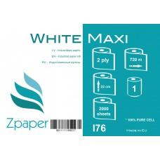 Zpaper White Maxi industriālais papīrs, 2 slāņi, 22 cm., 720 m., 1 gab.