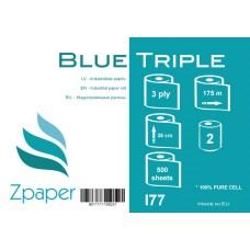 Zpaper Blue Triple industriālais papīrs, 3 slāņi, 36 cm., 175 m., 2 gab.