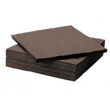 LENEK Galda salvetes, 1 slānis, 24x24 cm, brūnas, 18 pac. x 400 loksnes
