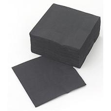 LENEK Galda salvetes, 1 slānis, 24x24 cm, melnas, 18 pac. x 400 loksnes