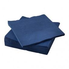 Galda salvetes, 2 slāņi, 33x33 cm., zilas, 8 pac. x 250 loksnes