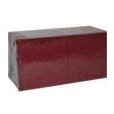 Galda salvetes, 2 slāņi, 33x33 cm., burgundi, 8 pac. x 250 loksnes