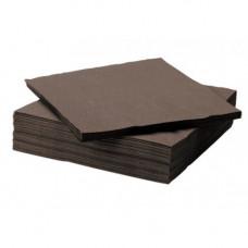Galda salvetes, 3 slāņi, 33x33 cm., brūnas, 6 pac. x 250 loksnes