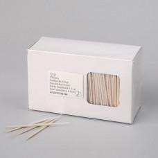 Zobu bakstāmie kociņi, apvalkoti, 1000 gab.,65 mm