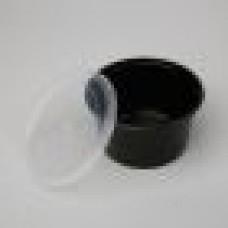 Plastmasas konteineri zupām, ar vāku, 450 ml., melni, 500 gab.