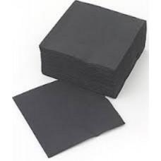 LENEK Galda salvetes, 2 slāņi, 24x24 cm, melnas, 10 pac. x 200 loksnes