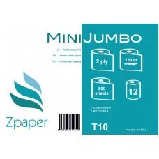 Zpaper MINI JUMBO Tualetes papīrs, 2 slāņi, 150 m, 12 gab.