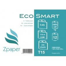 Zpaper Eco Smart Tualetes papīrs ar centrālo padevi, 2 slāņi, 110 m., 12 gab.
