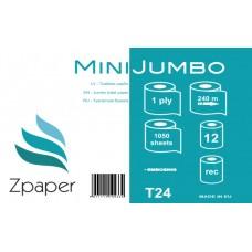 Mini Jumbo 240 Professional tualetes papīrs, 1 slānis, 240 m., 12 gab.