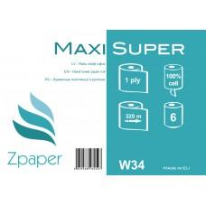 Zpaper MAXI SUPER Roku dvieļi ruļļos, ar centrālo padevi, 1 slānis, 320 m, 6 gab.