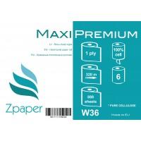 Zpaper Maxi Premium roku dvieļi ruļļos ar centrālo padevi, 1 slānis, 320 m., 6 gab.