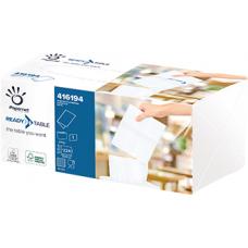 Papernet galda salvetes 2 slāņi, 16.6 x 21,6 cm., baltas, 40 iep. x 224 loksnes