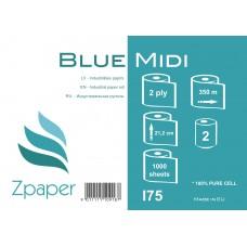 Zpaper Blue Midi Industriālais papīrs, 2 slāņi, 350 m., 2 gab.