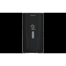 PAPERNET Šķidro ziepju turētājs ar uzpildāmu kartridžu, melns, 11.6x13.9x22 cm.