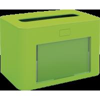PAPERNET Interfold Galda salvešu turētājs, antibakteriāls, zaļš, 13,3x20x12,6 cm.