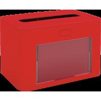 PAPERNET Interfold Galda salvešu turētājs, antibakteriāls, sarkans, 13,3x20x12,6 cm.