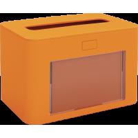 PAPERNET Interfold Galda salvešu turētājs, antibakteriāls, oranžs, 13,3x20x12,6 cm.