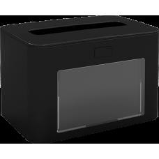 PAPERNET Interfold Galda salvešu turētājs, antibakteriāls, melns, 13,3x20x12,6 cm.