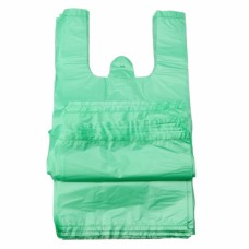 HDPE Maisiņi ar rokturiem, zaļi, 25x12x45 cm., 100 gab., 1 pac.