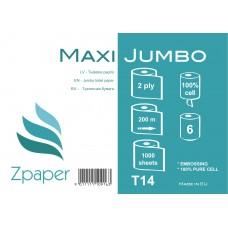 Zpaper MAXI SMART Tualetes papīrs ar centrālo padevi, 2 slāņi, 200 m., 6 gab.