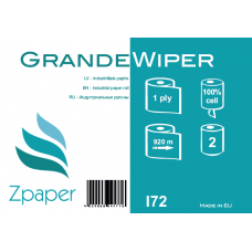 Zpaper GRANDE WIPER Industriālais papīrs, balts, 1 slānis, 920 m, 2 gab.