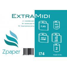 Zpaper EXTRA MIDI Industriālais papīrs, 2 slāņi, 360 m, 2 gab.