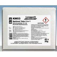 KM53 Trauku mazgājamās tabletes 5in1, 60 gab., 1.2 kg.