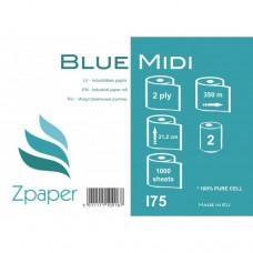 Zpaper Blue Midi Industriālais papīrs, zils, 2 slāņi, 350 m., 2 gab.