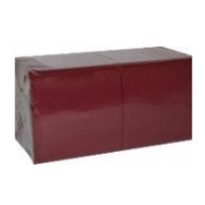 LENEK Galda salvetes, 1 slānis, 24x24 cm, burgundi, 18 pac. x 400 loksnes