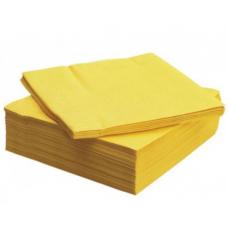 LENEK Galda salvetes, 1 slānis, 24x24 cm, dzeltenas, 18 pac. x 400 loksnes
