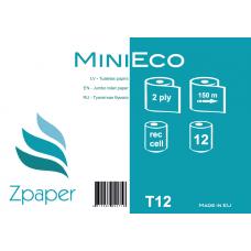 Zpaper MINI ECO Tualetes papīrs, 2 slāņi, 150 m, 12 gab.